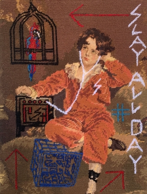 Niki McDonald, Slay All Day, Tapestry, 2020